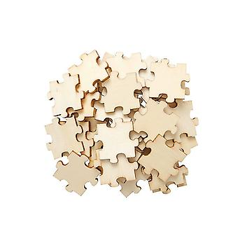 36 Wooden 30mm Puzzle Piece Papercraft Embellishments   Card Making Toppers & Scrapbooking Supplies