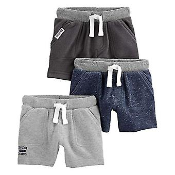 Simple Joys di Carter's Boys' 3-Pack Knit Shorts, Navy, Charcoal Heather, Gra...