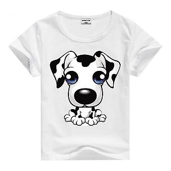 Summer Cotton Short Sleeve T-Shirt, Big Eyed Dog, Infant