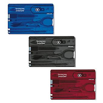 Genuine Victorinox Swiss Card - various colours - Multi Function Swisscard Tool