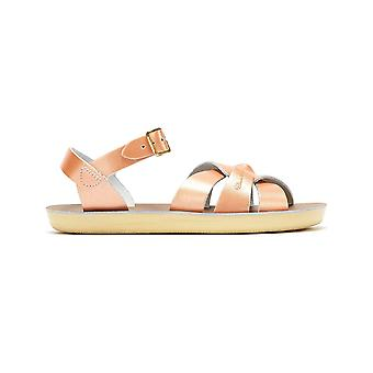 Salt Water Swimmer Youth Rose Gold Sandals