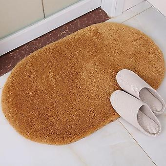 Coral Fleece Slip Resistant Floor Water Absorption Bathroom Doormat Rugs