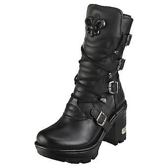 New Rock M-neotyre05-s1 Unisex Platform Boots in Black