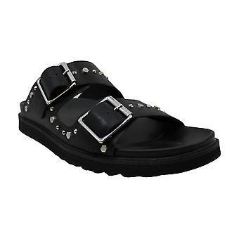 INC International Concepts Mens felix Leather Open Toe Slip On Slippers
