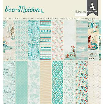 Authentique Sea Maiden 12x12 hüvelykes papírpad