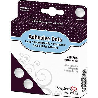 Scrapbook Adhesives Adhesive Dots Large Repositionable