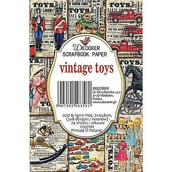 Decorer Vintage Toys Paper Pack