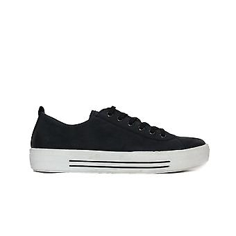 Remonte D0900-14 Navy Leather Womens Lace Up Casual Trainers