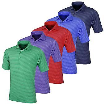 Bobby Jones Mens XH2O Fine Line Stripe Poly Jersey Golf Polo Shirt