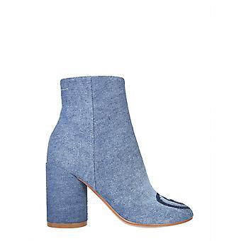 Mm6 Maison Margiela S59wu0166p3536h7926 Femmes-apos;s Bottes de cheville en coton bleu clair