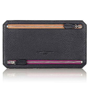 Slate Grey Richmond Leather Multi Currency Wallet