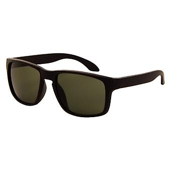 Sunglasses Unisex matt black with green lens (AZ-110)