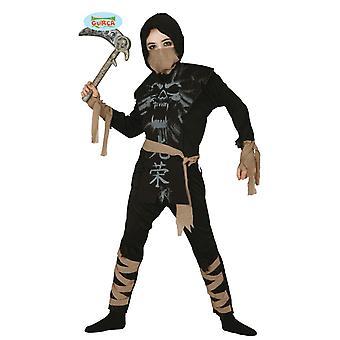 Fantasmas de traje Ninja guerreiro fantasma crianças carnaval Halloween guerreiro