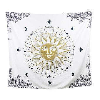Sun Moon and Stars Celestial Tapesty Wall Hanging