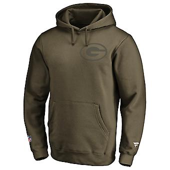 Green Bay Packers NFL Fan Hoody Iconic army green