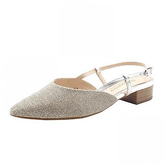 Peter Kaiser Calissa-a Dressy Low Heel Sandals In Sand Shimmer