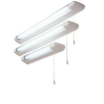 27655 - 1 Lumière 18W Commuté sur miroir fluorescent Strip Light Blanc IP44
