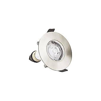 LED Fire Rated Downlight Recessed Satin Nickel GU10 Holder Satin Nickel IP65