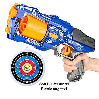 Rotatina manual do barril pistola de bala macia nerf balas brinquedo - Dart Blaster