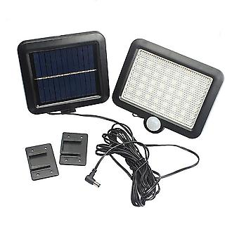 100leds Solar Power For Outdoor Waterproof - Security Pir Infrared Motion Sensor And Light Wall Mounted Night Lamp (warm White)