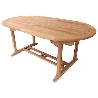 Charles Bentley Solid Drewniane Teak Garden Patio Owal 6-8 Osobowy stół wysuwany