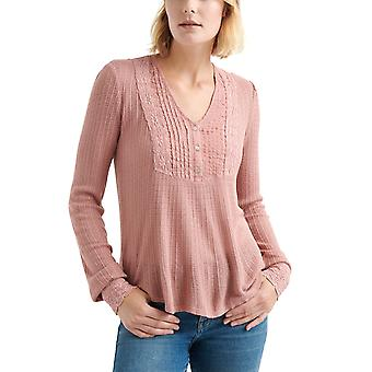 Lucky Brand | Lace Mix Drop Needle Top