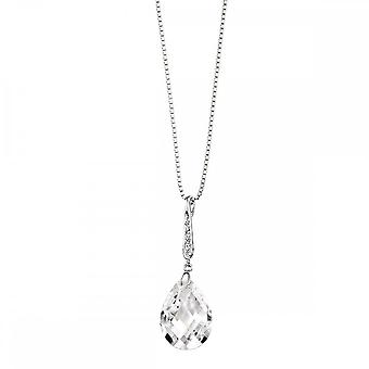 Elements Silver Teardrop CZ Pendant With Pave Bail P3076CZ364N723