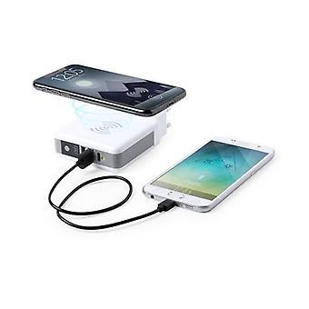 Trådlös power bank 6700 mAh USB-C Vit