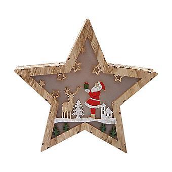 Star Shape Snow House Ornement de Noël avec la lumière pour le décor de fête de Noël
