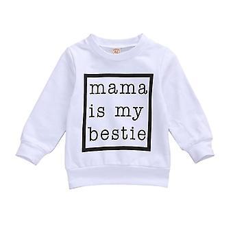 Novorozenec Mikiny Topy, dlouhý rukáv pulovr, dopis tisk