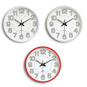 12 Inch Luminous Silent Quartz Wall Clock For Indoor Outdoor Glow In The Dark