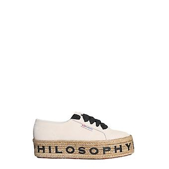 Philosophy By Lorenzo Serafini 320207720004 Women's White Leather Sneakers