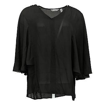 ليزا رينا جمع المرأة & apos;ق أعلى الأكمام المغطاة الأسود A353884
