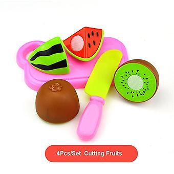 Children Play House, Plastic Food Toy, Cut Fruit, Vegetable Kitchen Educational