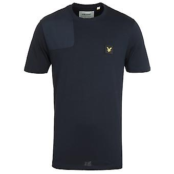 Lyle & Scott Ripstop Applique Dark Navy Logo T-Shirt