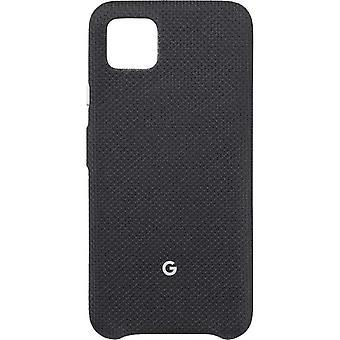Couverture officielle google pixel 4 de cas de tissu - juste noir (GA01280)