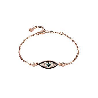 Ondt øye elliptisk armbånd rosegold