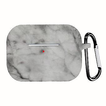 Fall Marmor Muster stoßfeste Silikon-Etui für Apple AirPods Pro White