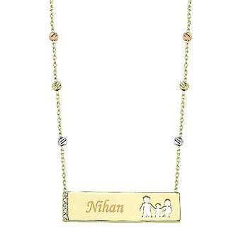 Familiy Name Gold Necklace