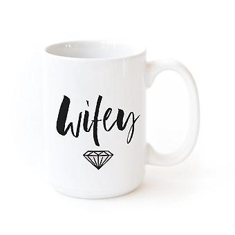Wifey tryckt keramisk kaffemugg