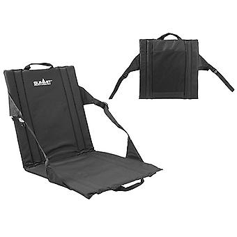 Summit Portable Stadium Seat Padded Cushion W/ Backrest Outdoor Camping Chair - Black