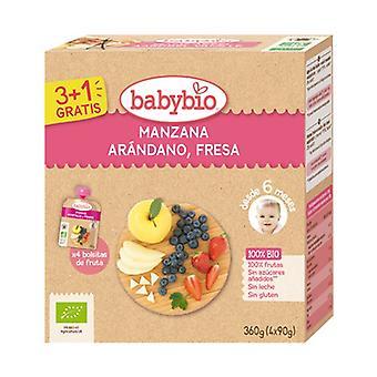 Bag Apple Blueberries Strawberry Bio 6m + 4 units of 90g