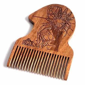 الحديد رجل خشبية اللحية مشط