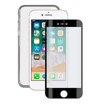 Gehärtetes Glas Mobile Screen Protector + Mobile Case iPhone 7/8/SE2020 Kontakt