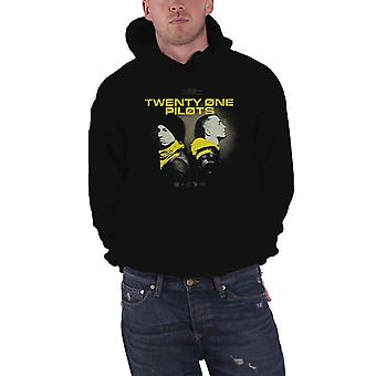 Twenty One Pilots Hoodie Back To Back Band Logo new Official Mens Black Pullover