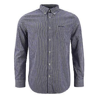 Ben Sherman Mens Checkered Shirt Long Sleeve Plaid Top 0062084 BLUE