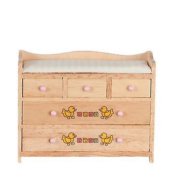 בובות בית החלפת שולחן אור אלון ABC סרטים חזה תינוק משתלה רהיטים
