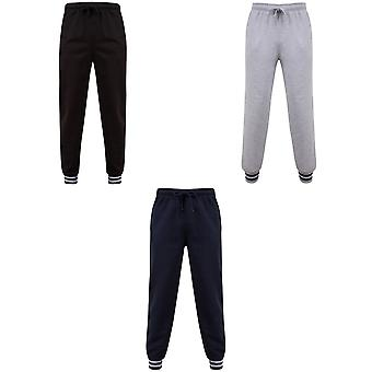 Front Row Unisex Adults Striped Cuff Joggers