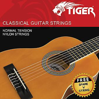 Tiger classical guitar strings - normal tension nylon strings