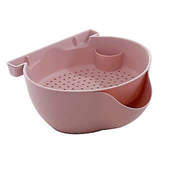 Homemiyn Multifunctional Drainable Fruit Bowl Basket Fruit Cleaning Tool Basin